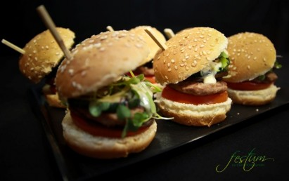 Mini hamburguesa mixta